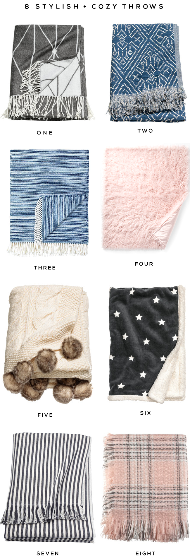 Stylish and Cozy Throw Blankets for Fall and Winter