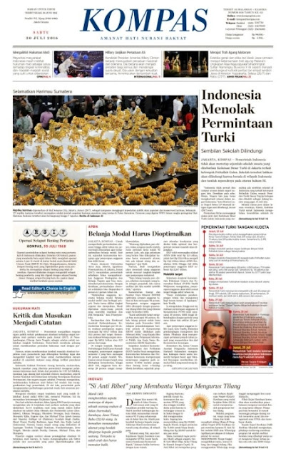 Kompas Edisi Sabtu 30 Juli 2016