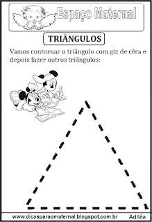 Desenho de triângulo pontilhado