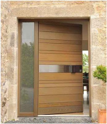 model pintu utama minimalis satu pintu