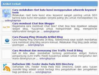 Cara Membuat Artikel Terkait Dengan Gambar Di Bawah Postingan Blog