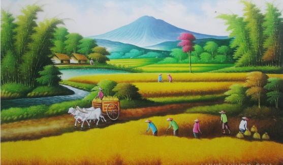 Berbagai Macam Lukisan Lukisan Pemandangan Alam Gunung Laut Dan