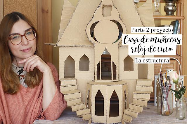 como hacer una casa muñecas con carton