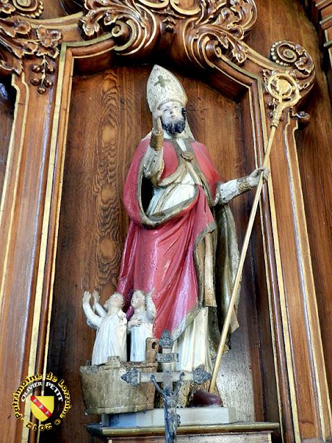 Saint-Nicolas (XVIIIe siècle) - Statue en bois - Église de Gibeaumeix (54)