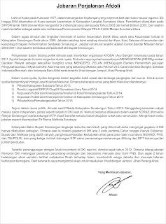 Jabaran Perjalanan Afdoli Menghadapi Pilkada DKI Jakarta 2017