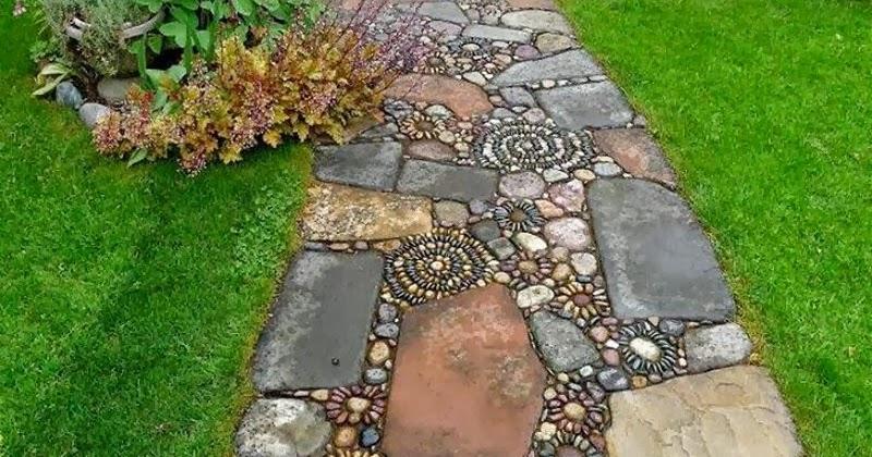 Dream Decorators Stone Mosaic Garden Path