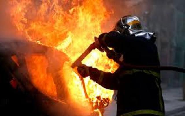 Στις φλόγες τυλίχθηκε Ι.Χ. στον Εύοσμο