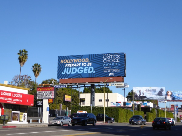 2016 Critics Choice Awards teaser billboard