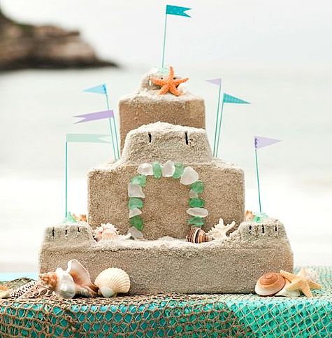 DIY Sandcastle Centerpiece