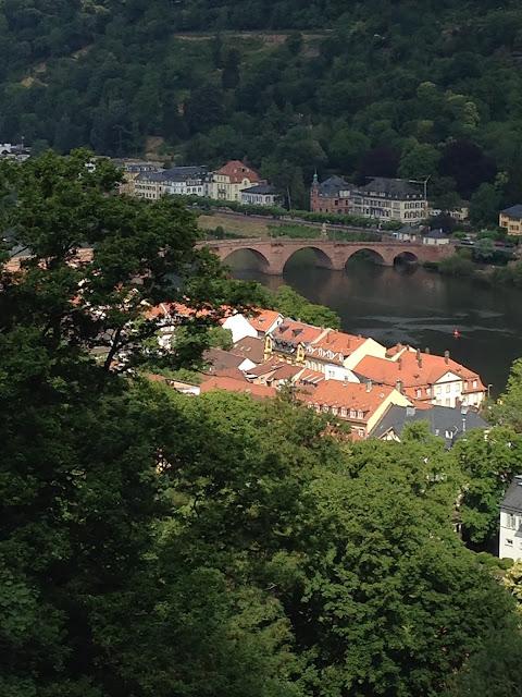 Heidelberg Castle views on Old Town Heidelberg