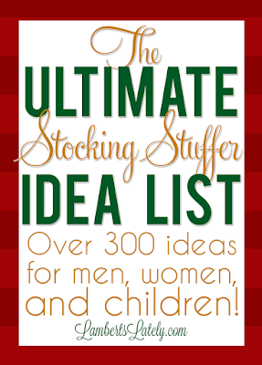 Huge list of over 300 stocking stuffers for the whole family, including babies, toddlers & younger kids, men, and women! Lots of different price ranges (everything from cheap gifts to more expensive items) and there are so many unique ideas...this is one of the best lists out there!