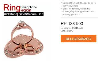 Harga cincin untuk Samsung Galaxy model love warna Rose Gold