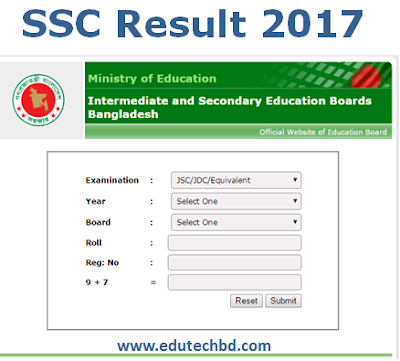 www.educationboardresults.gov.bd SSC Result 2017