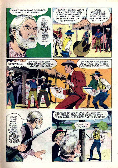 Wyatt Earp v2 #11 - Russ Manning dell western 1960s silver age comic book page art