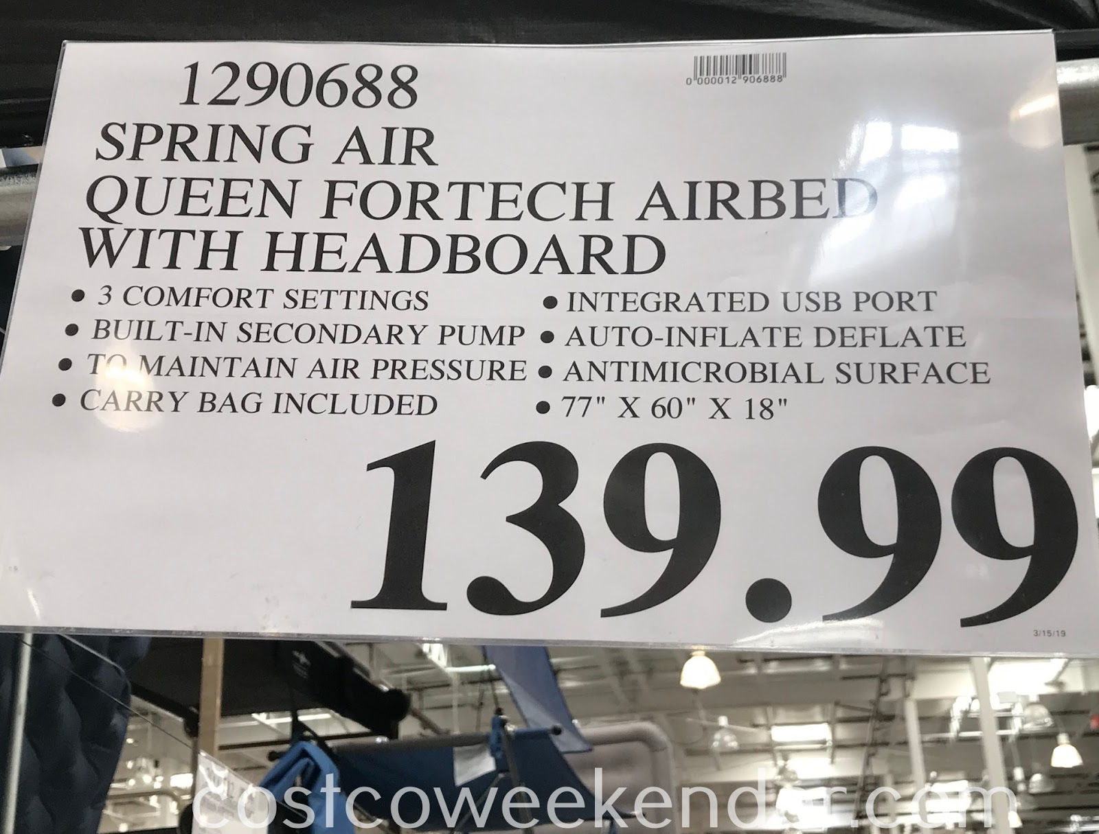 Deal for the Spring Air Queen AlwaysAire Air Mattress at Costco
