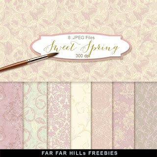 New Freebies Background Kit - Sweet Spring