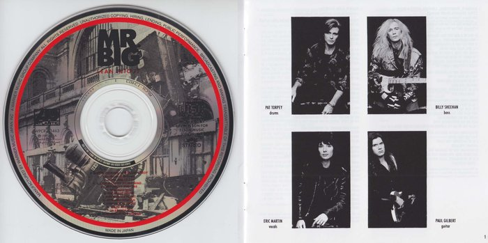 Mr. BIG - Lean Into It [Japanese Remaster SHM-CD LTD Release +4] Out Of Print booklet
