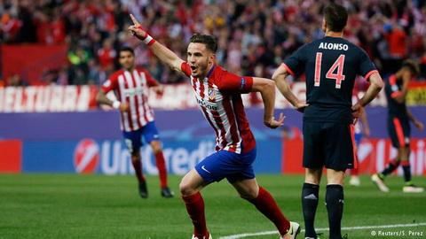Tình huống solo ghi bàn của Saul Niguez vào lưới Bayern Munich