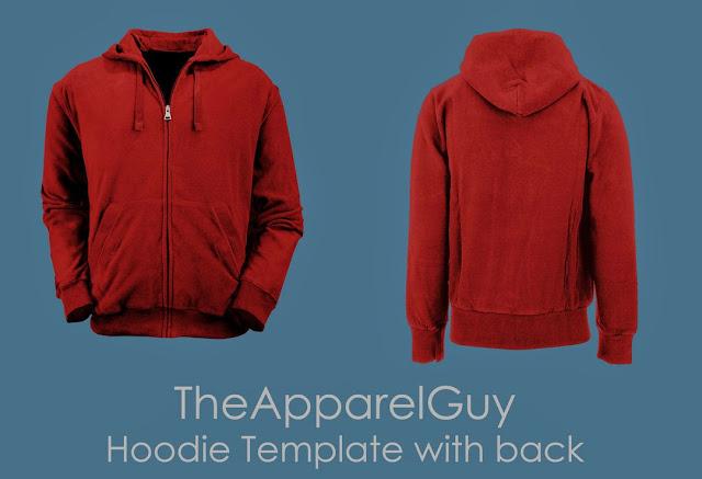 Realistic Hoodie Template Design