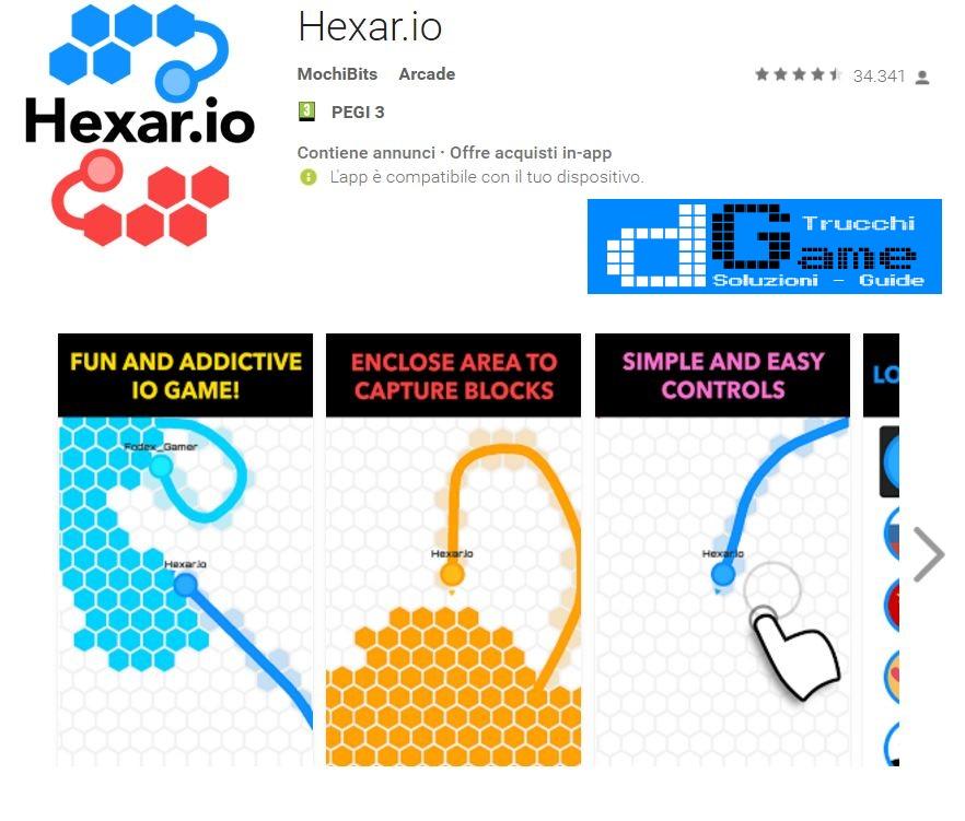 Trucchi Hexar.io Mod Apk Android v1.1.1
