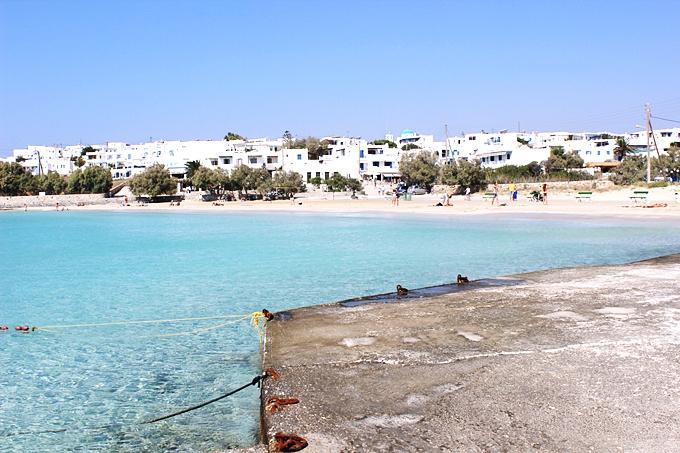 Megali Ammos gradska plaza Kufonisija ostrvo Grcka