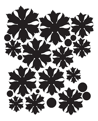 Free ornate flower template PDF