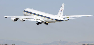 NASA DC-8 Flying