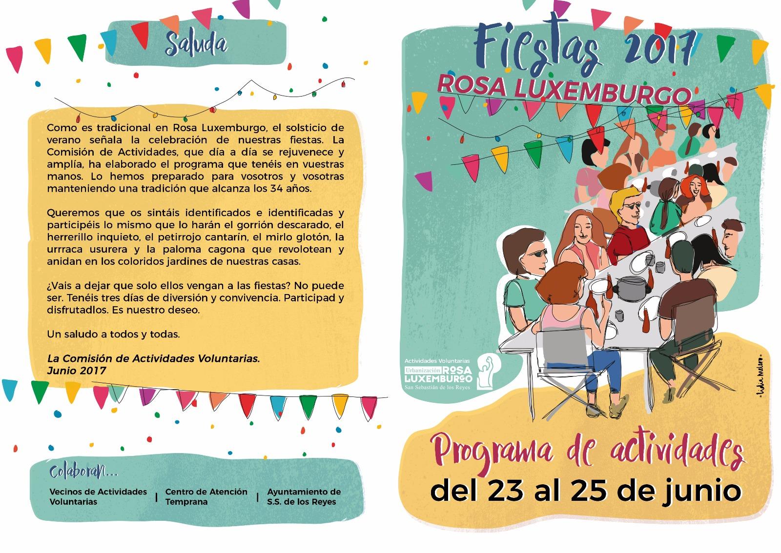 Rosa Luxemburgo San Sebastián De Los Reyes Programa De Fiestas 2017