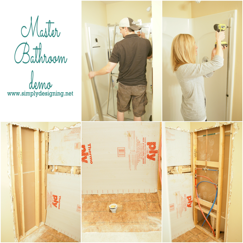 Master Bathroom Demo - this remodel is going to be simply stunning!  | #bathroom #remodel #homeimprovement