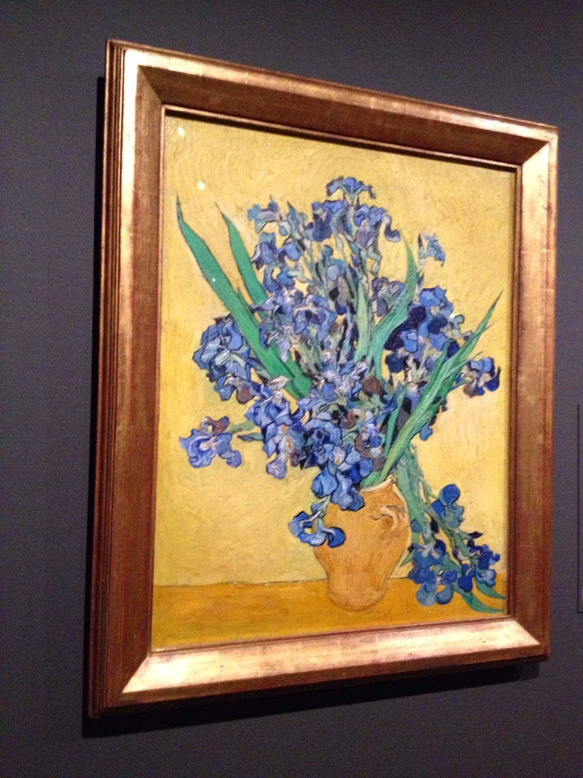 Amsterdam - Van Gogh's Still Life: Vase with Irises Against a Yellow Background
