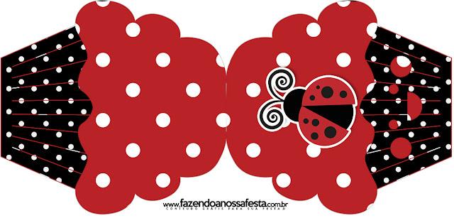 Ladybug Party Free Printable Cupcake  Invitation.