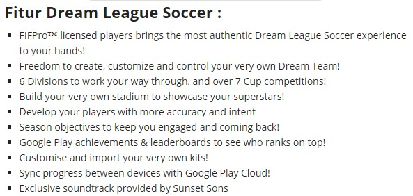 dream league soccer 2016 game details