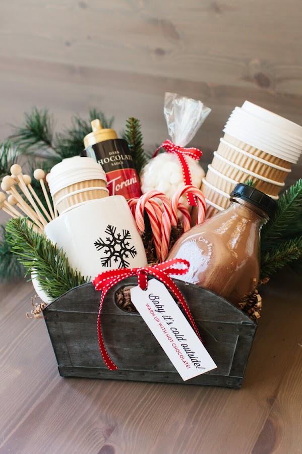 9 cestas diy regalar navidad