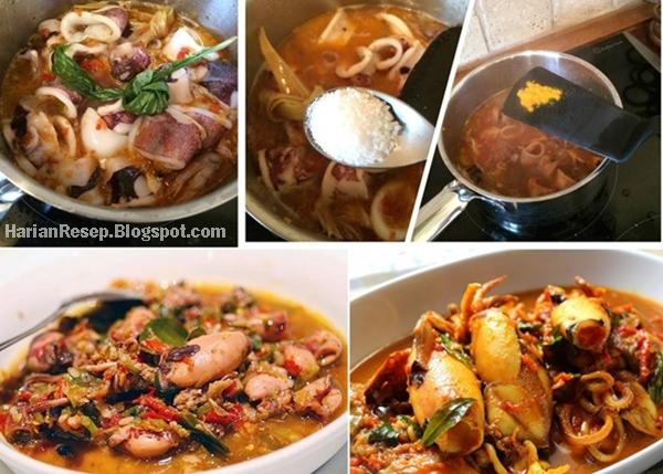 Versi Wikipedia woku yaitu bumbu makanan ala Manado Resep Cumi Woku Tinta Belanga Khas Manado Special