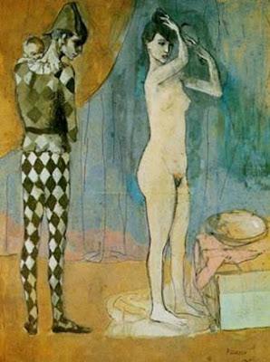 Familia de arlequín, Picasso.