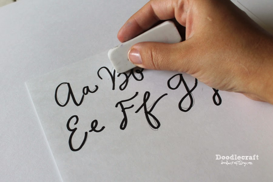 Cursive alphabet wood tracing board lowercase and or uppercase