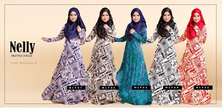 NELLY NURSING SATIN JUBAH SOLD OUT