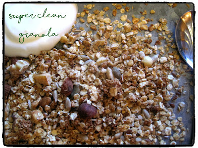 Homemade clean granola recipe