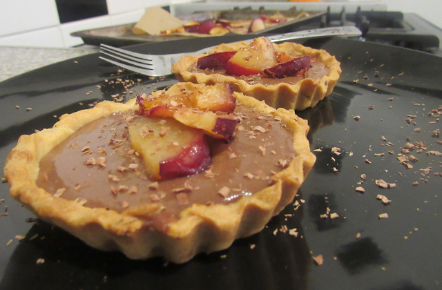 GBBO Individual Chocolate Plum Amaretto Tartlets