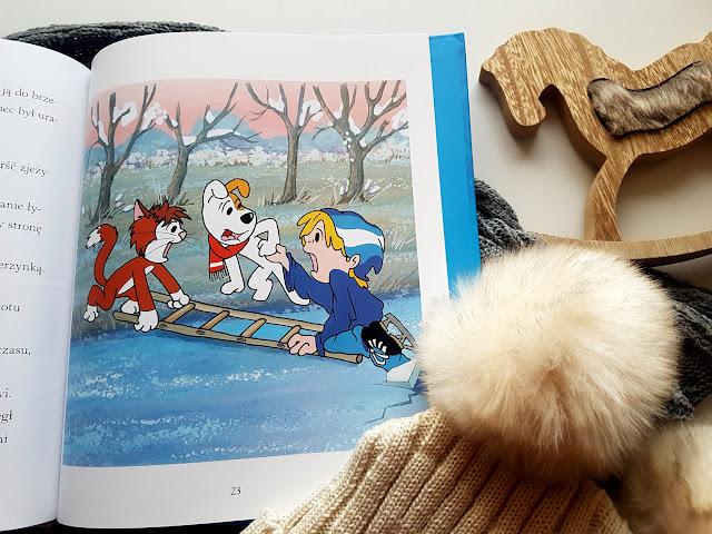 Reksio. Zimowa Przygoda - Maria Szarf -  Publicat - Papilon Centrum Edukacji Dziecięcej -książeczki dla dzieci - recenzja - blog rodzicielski - blog parentingowy