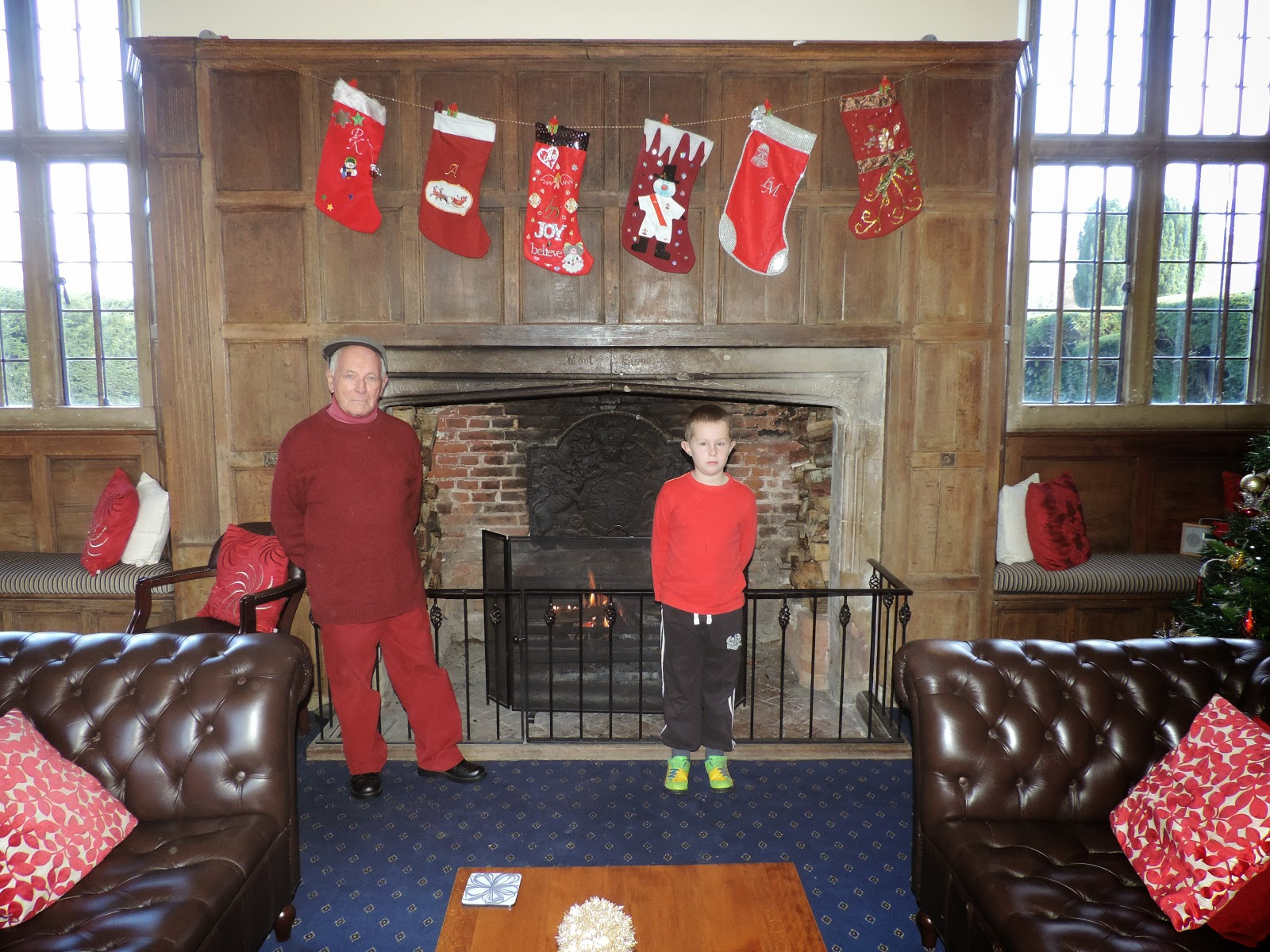 family xmas fireplace tudor building grove place nursling southampton