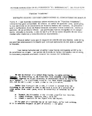 UFO Explodes Over Cemetery in Arenda, Columbia 7-6-1956 (BB Report 1)