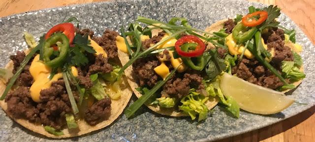 cheeseburger taco tapas starter from revolution de cuba newcastle