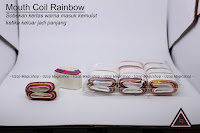 Jual alat sulap Mouth coil rainbow