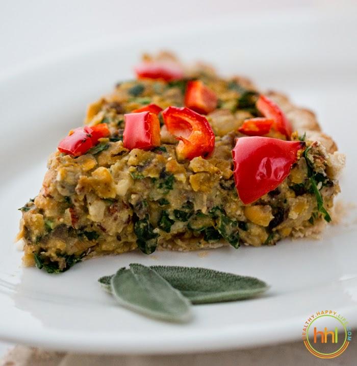 Main Dishes In A Party: Vegan Holiday Main Dish: Mushroom-Chickpea-Hazelnut Tart