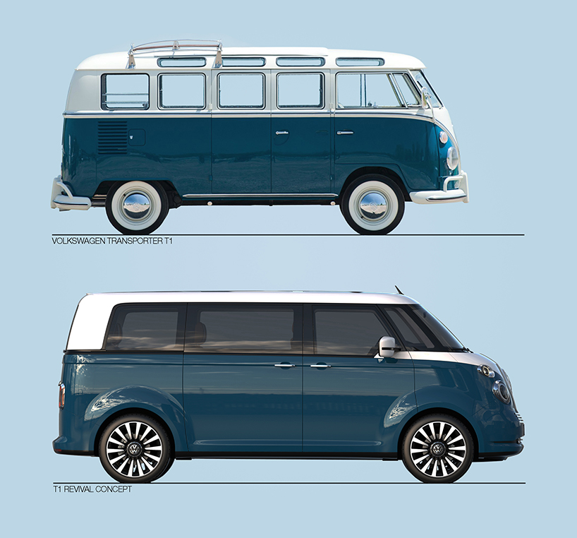 vw t1 microbus revival concept envisioned on t6 platform. Black Bedroom Furniture Sets. Home Design Ideas