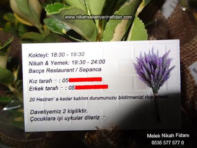 Davetiye Fidanı - Nurgül & Hakan Sakarya Sapanca 3