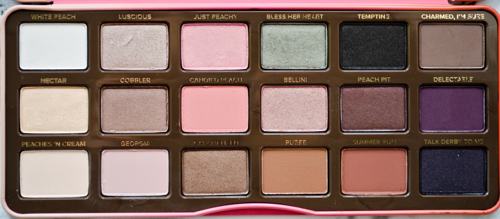 Too Faced Sweet Peach Palette Review  International -3526