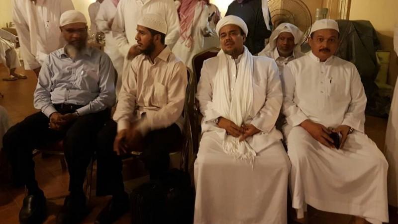 Habib Rizieq dan Zakir Naik di Arab Saudi