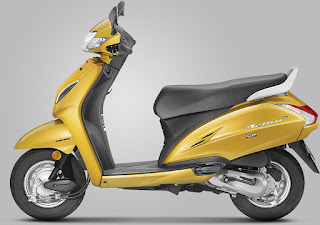 Honda Activa 5GDazzle Yellow Metallic colour